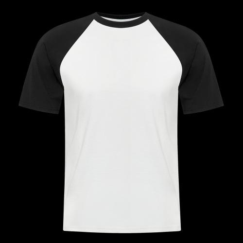 logo hvid png - Kortærmet herre-baseballshirt