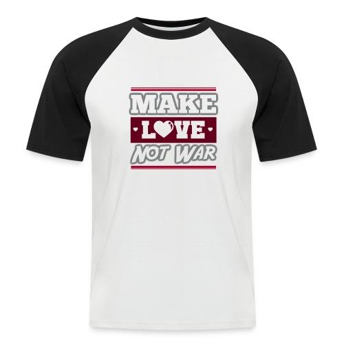 Make_love_not_war by Lattapon - Kortærmet herre-baseballshirt