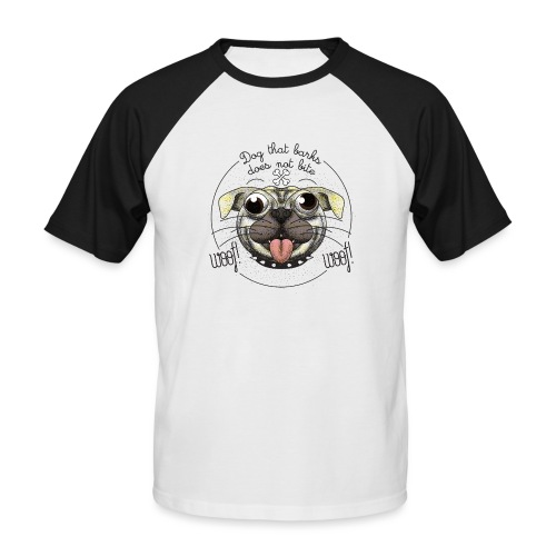 Dog that barks does not bite - Maglia da baseball a manica corta da uomo
