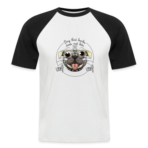 Dog that barks does not bite - Maglia da baseball a manica corta da uomo