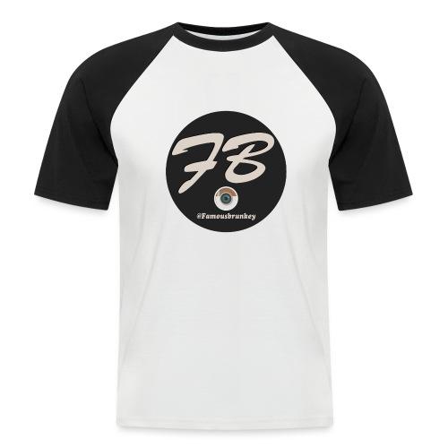 TSHIRT-INSTATUBER-METLOGO - Mannen baseballshirt korte mouw