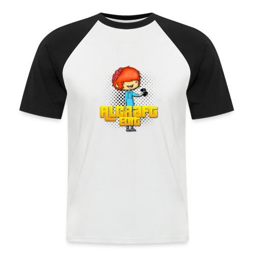 Diseño Simple AlCraft Edit - Camiseta béisbol manga corta hombre