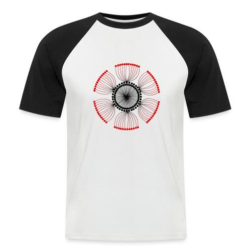 Red Poppy Seeds Mandala - Men's Baseball T-Shirt