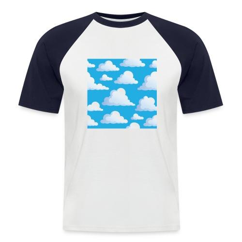 Cartoon_Clouds - Men's Baseball T-Shirt