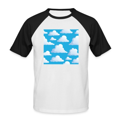 Cartoon_Clouds - Men's Baseball T-Shirt