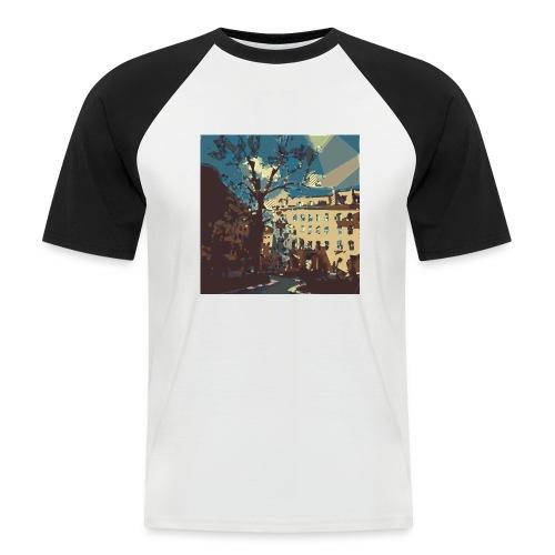 Abstrakt Budapest - Männer Baseball-T-Shirt