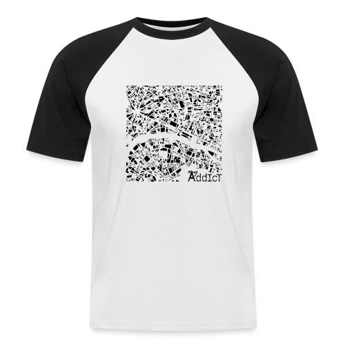 Paris addict - T-shirt baseball manches courtes Homme