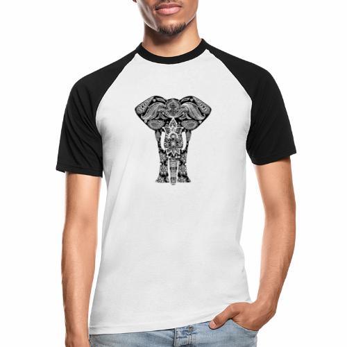 Ażurowy słoń - Koszulka bejsbolowa męska