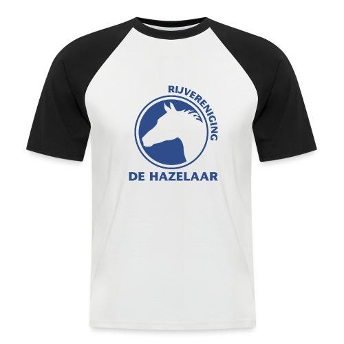 LgHazelaarPantoneReflexBl - Mannen baseballshirt korte mouw