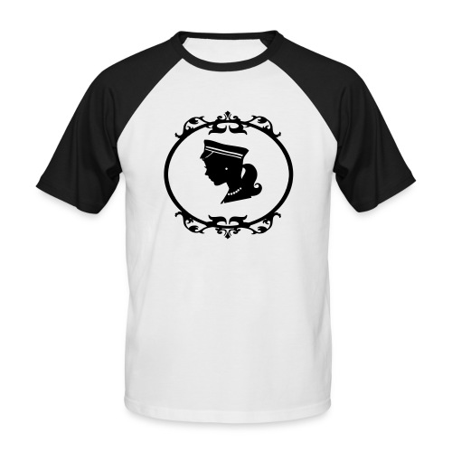 Mädel oval 1 farbig - Männer Baseball-T-Shirt