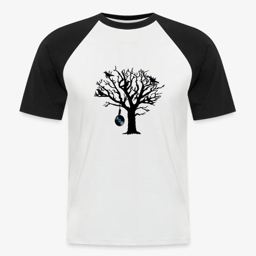 Musical Birds in Tree 2 blau Hangman Vinyl - Männer Baseball-T-Shirt