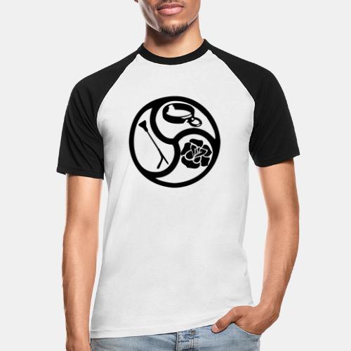 Triskele triskelion BDSM Emblem HiRes 1 color - Männer Baseball-T-Shirt