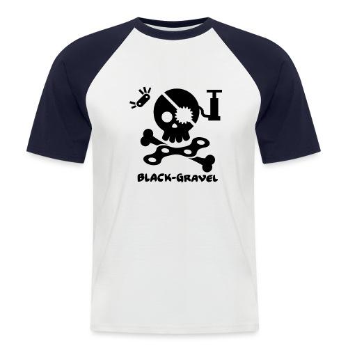 Black T-Shirts Sport - Maglia da baseball a manica corta da uomo