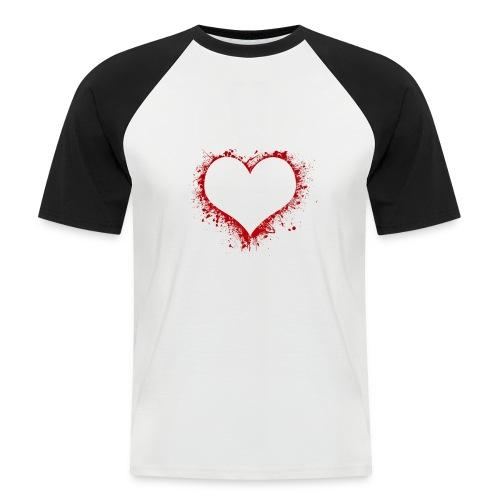 Herz/Heart - Männer Baseball-T-Shirt