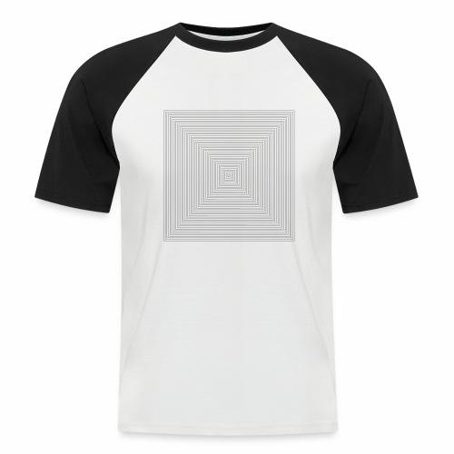 Square Design - Mannen baseballshirt korte mouw