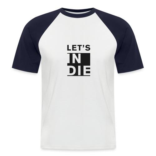 Official LET'S INDIE - Maglia da baseball a manica corta da uomo