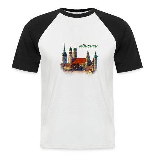 München Frauenkirche - Männer Baseball-T-Shirt