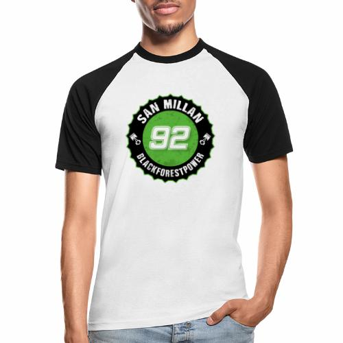 San Millan Blackforestpower 92 rund - schwarz - Männer Baseball-T-Shirt