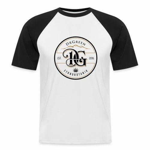 drgreen buttons weiß - Männer Baseball-T-Shirt