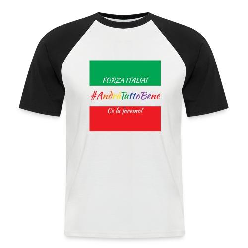 Andrà Tutto Bene su Bandiera Italiana - Maglia da baseball a manica corta da uomo