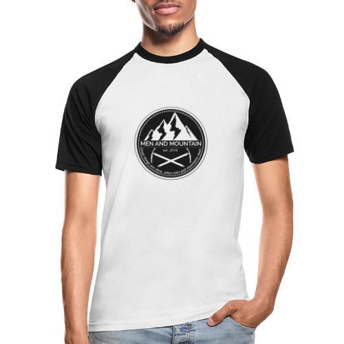 Men and Mountain - Original Logo - Männer Baseball-T-Shirt