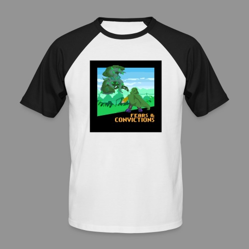 Fears and convictions (Chiptune) - Men's Baseball T-Shirt
