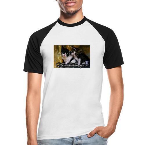 Amor por los gatos - Camiseta béisbol manga corta hombre