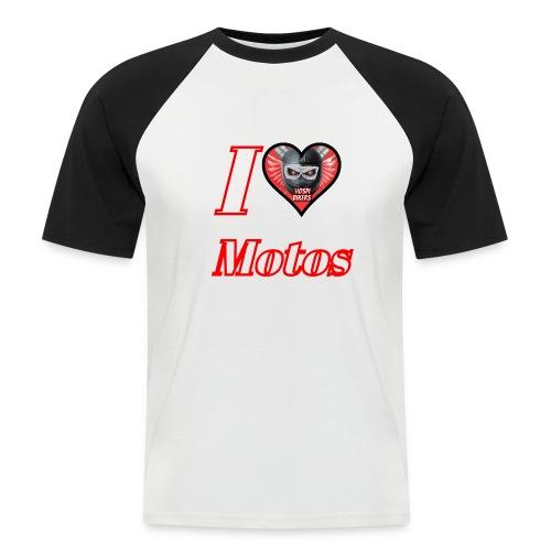 ilovemotos - Camiseta béisbol manga corta hombre