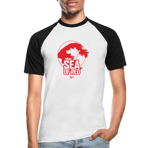 Sea of red logo - red - Men's Baseball T-Shirt