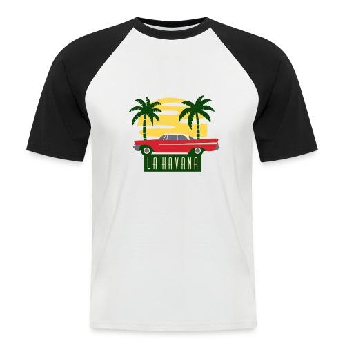 La Havana Vintage - Männer Baseball-T-Shirt