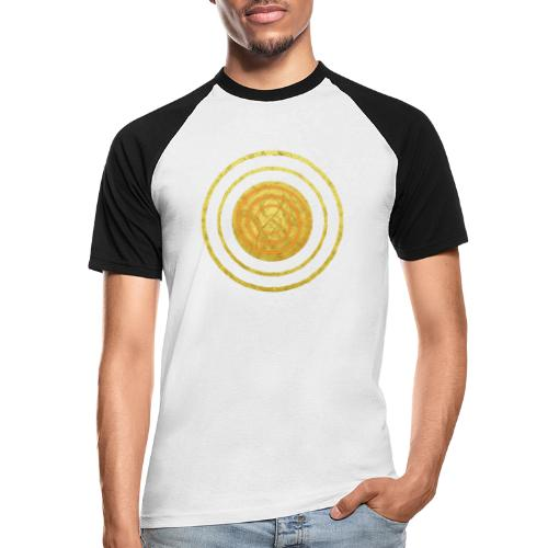Glückssymbol Sonne - positive Schwingung - Spirale - Männer Baseball-T-Shirt