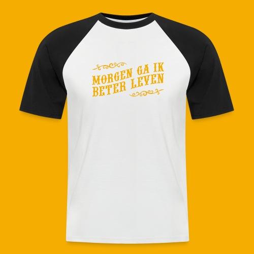 tshirt yllw 01 - Mannen baseballshirt korte mouw