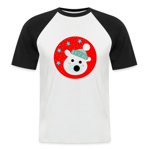 Winter bear - Men's Baseball T-Shirt