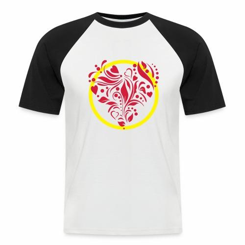 Herzemblem - Männer Baseball-T-Shirt