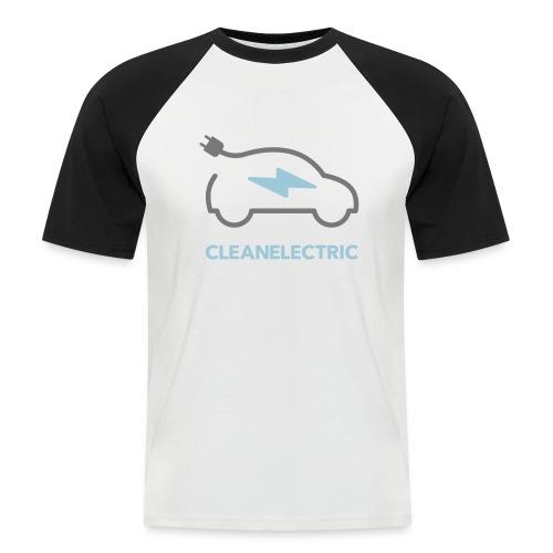 CLEANELECTRIC Logo - Männer Baseball-T-Shirt