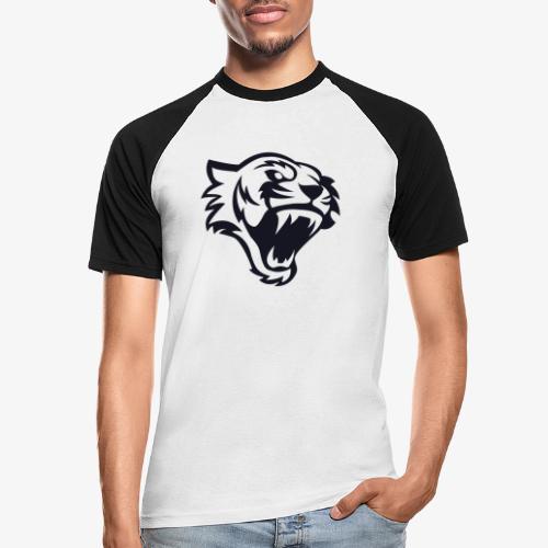 Tete tigre 300dpi noir - T-shirt baseball manches courtes Homme