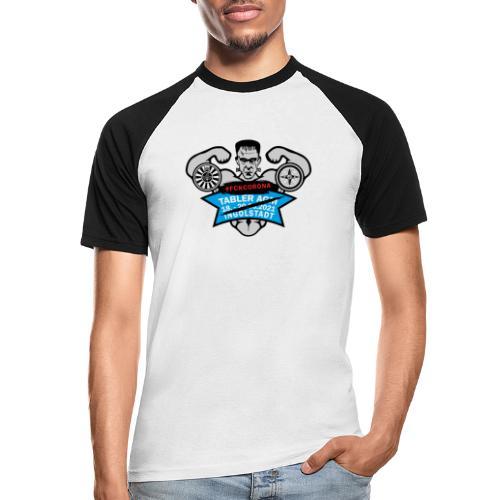 AGM 2021 Logo FCKCORONA 210406 - Männer Baseball-T-Shirt