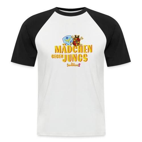 Mädchen gegen Jungs - Männer Baseball-T-Shirt