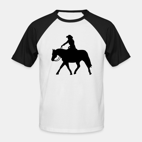 Ranch Riding extendet Trot - Männer Baseball-T-Shirt