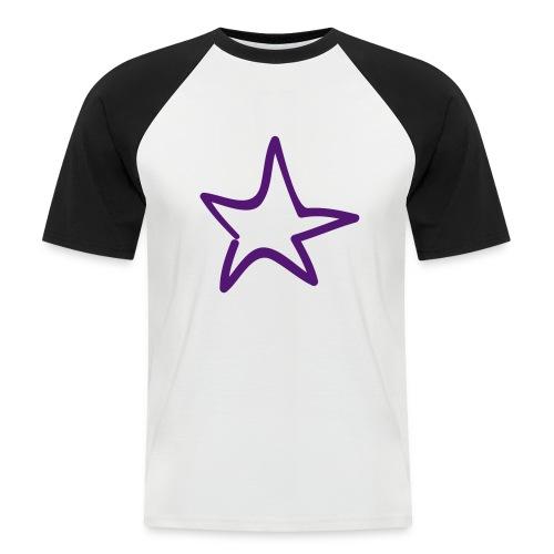 Star Outline Pixellamb - Männer Baseball-T-Shirt