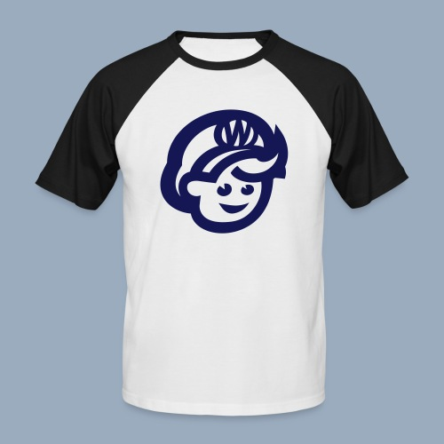 logo bb spreadshirt bb kopfonly - Men's Baseball T-Shirt