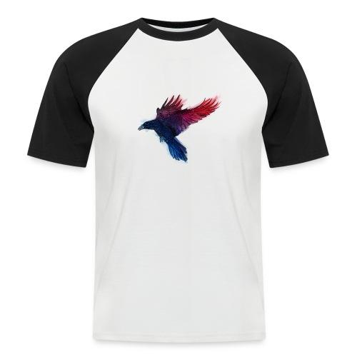 Watercolor Raven - Männer Baseball-T-Shirt