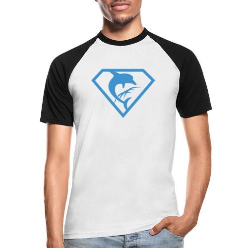 Super-Delfin - Männer Baseball-T-Shirt