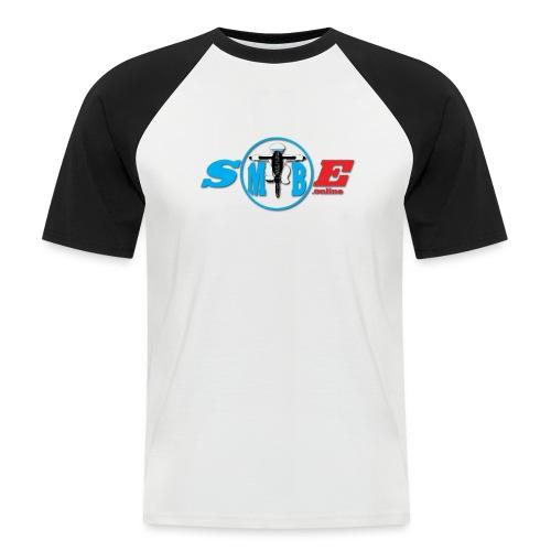 SMTBE biker logo DECAL red big - Men's Baseball T-Shirt