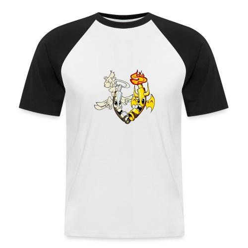 engel_teufel_color_ohne_s - Männer Baseball-T-Shirt