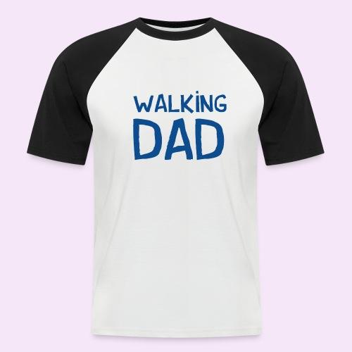 Vierdaagse Nijmegen - Walking Dad BLUE - Mannen baseballshirt korte mouw