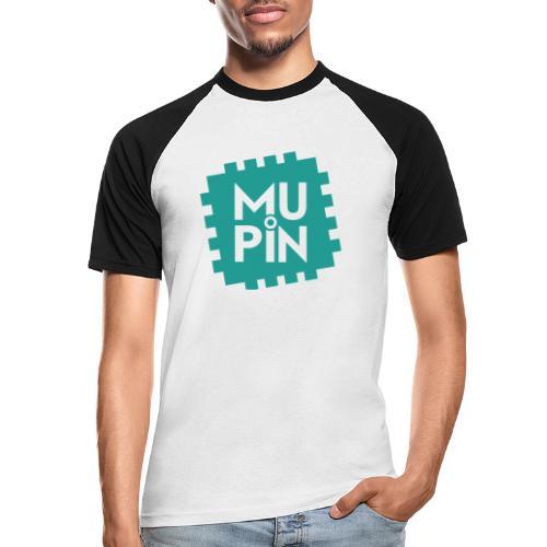 Logo Mupin quadrato - Maglia da baseball a manica corta da uomo