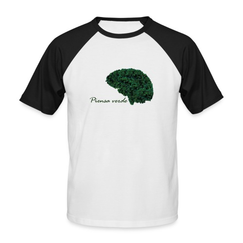 Piensa verde - Camiseta béisbol manga corta hombre