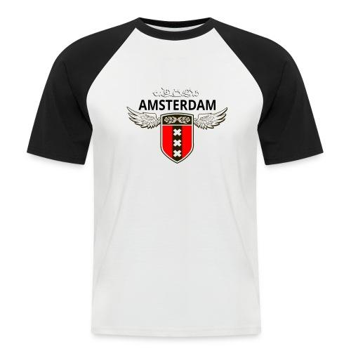 Amsterdam Netherlands - Männer Baseball-T-Shirt