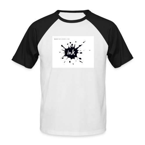 Ink Logo and website - Men's Baseball T-Shirt